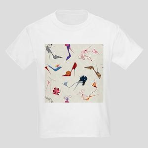 High Heels Seamless Pattern. - Kids Light T-Shirt