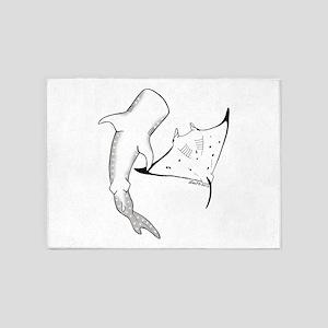 whale shark 5'x7'Area Rug
