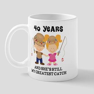 40th Anniversary Mens Fishing Mug