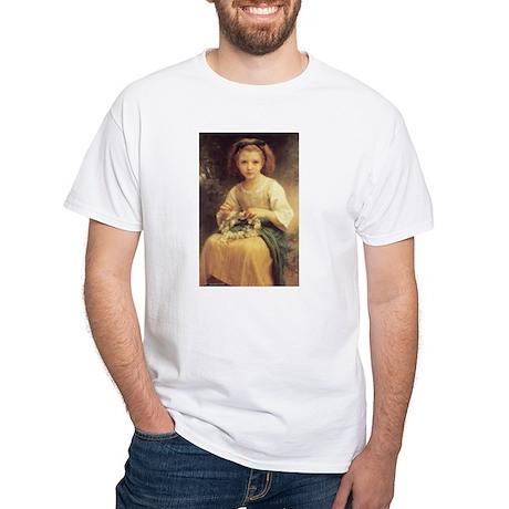 Child Braiding Flower Crown B White T-Shirt