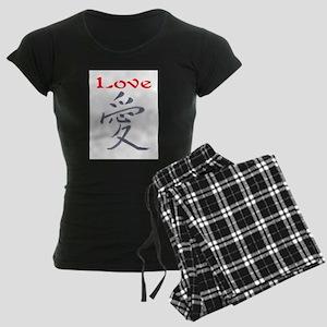 LOVE (CHINESE PAINTING) Women's Dark Pajamas