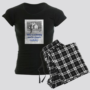 STAY IS A CHARMING WORD Women's Dark Pajamas