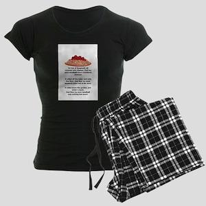 ON TOP OF SPAGHETTI.. Women's Dark Pajamas