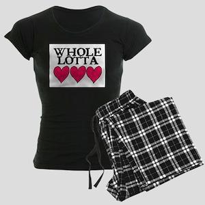 WHOLE LOTTA LOVE (HEARTS) Women's Dark Pajamas