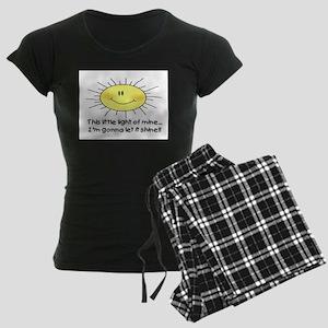 LIGHT OF MINE Women's Dark Pajamas