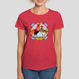 Araucana Chicken Flower Art T-Shirt
