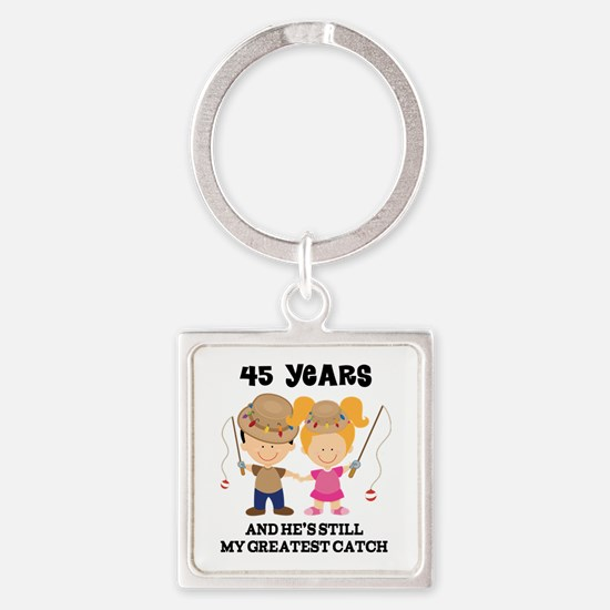 45th Anniversary Hes Greatest Catch Square Keychai