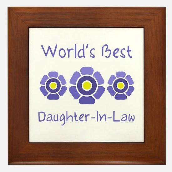 World's Best Daughter-In-Law Framed Tile