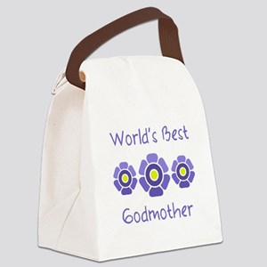 World's Best Godmother Canvas Lunch Bag