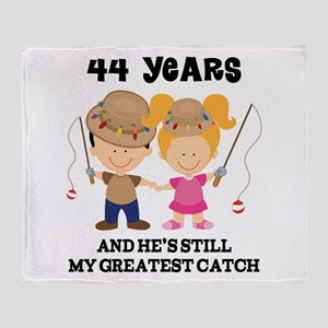 44th Anniversary Hes Greatest Catch Throw Blanket