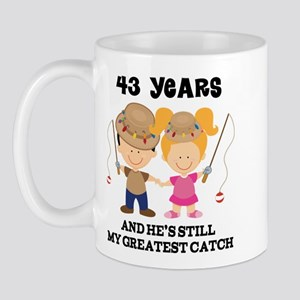 43rd Anniversary Hes Greatest Catch Mug