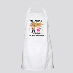 40th Anniversary Hes Greatest Catch Apron