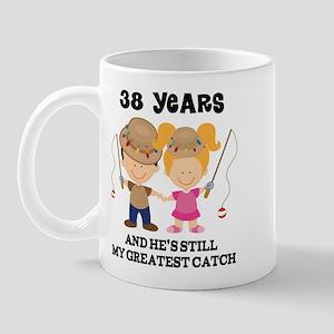 38th Anniversary Hes Greatest Catch Mug