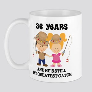 36th Anniversary Hes Greatest Catch Mug