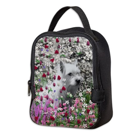 Violet the White Westie Neoprene Lunch Bag