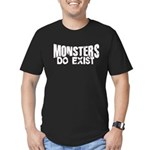 Monsters do exist Men's Fitted T-Shirt (dark)