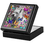 Violet White Westie Butterflies Keepsake Box