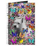 Violet White Westie Butterflies Journal
