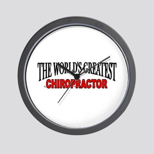 """The World's Greatest Chiropractor"" Wall Clock"