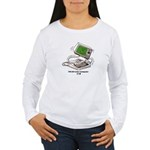 CoCo Man Typing Women's Long Sleeve T-Shirt