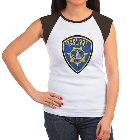 Oakland Police Women's Cap Sleeve T-Shirt