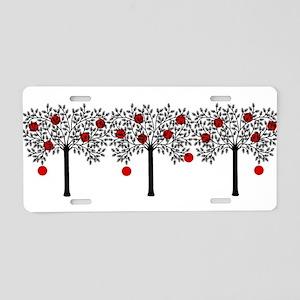Gothic Apple Tree Aluminum License Plate