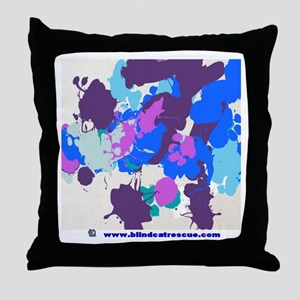 Made by the Cats Throw Pillow