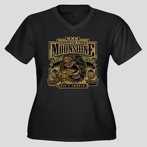 Squatch Puke Hillbilly Moonshine Plus Size T-Shirt