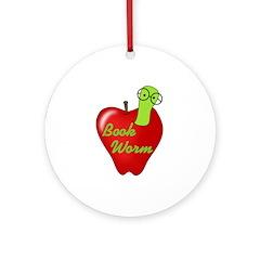 Book Worm Ornament (Round)