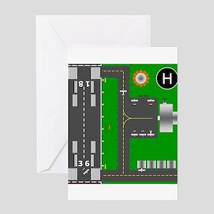 Airport Diagram Greeting Card