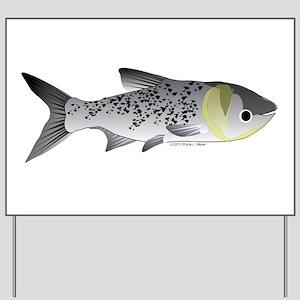 Bighead Carp (Asian Carp) fish Yard Sign