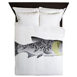 Bighead Carp (Asian Carp) fish Queen Duvet