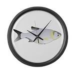 Silver Carp (Asian Carp) fish Large Wall Clock