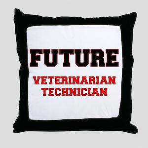 Future Veterinarian Technician Throw Pillow