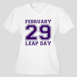 LEAP DAY Women's Plus Size V-Neck T-Shirt