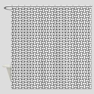Black mesh pattern Shower Curtain
