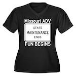 State Maintenance Ends - Fun Begins Plus Size T-Sh