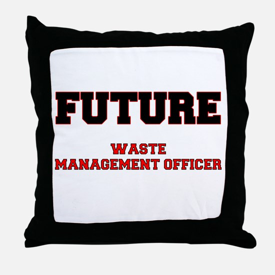 Future Waste Management Officer Throw Pillow