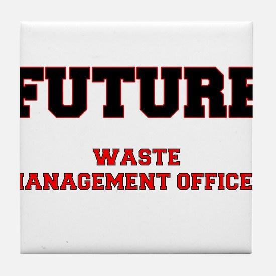 Future Waste Management Officer Tile Coaster