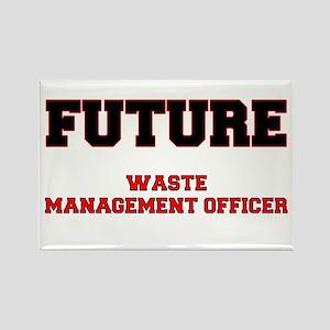 Future Waste Management Officer Rectangle Magnet