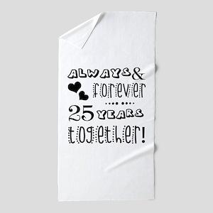 25th Anniversary Unique Beach Towel
