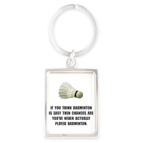 Badminton Easy Keychains