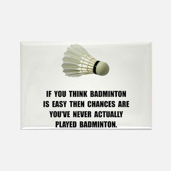 Badminton Easy Rectangle Magnet (10 pack)