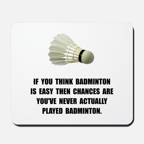 Badminton Easy Mousepad