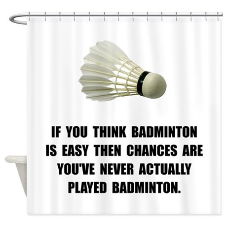 Badminton Easy Shower Curtain