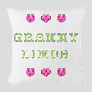 Granny Linda Woven Throw Pillow
