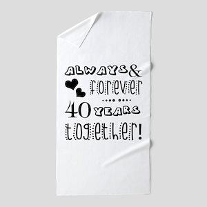 40th Anniversary Unique Beach Towel