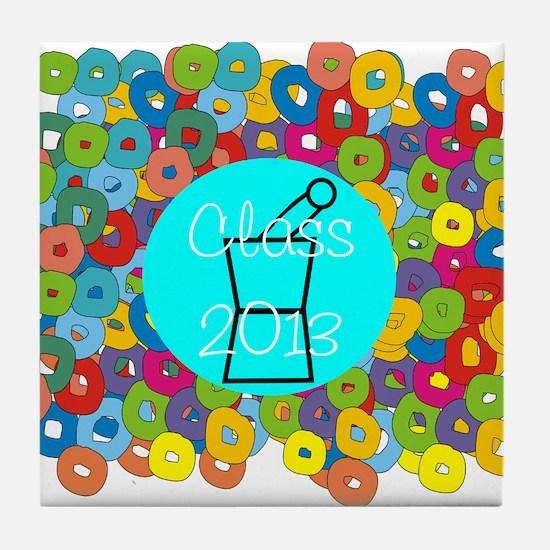 pharmacist grad abstract Tile Coaster