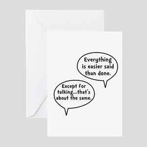 Easier Said Than Done Greeting Cards (Pk of 20)
