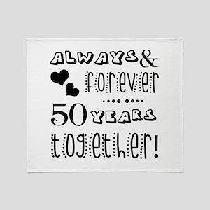 50th Anniversary Unique Throw Blanket